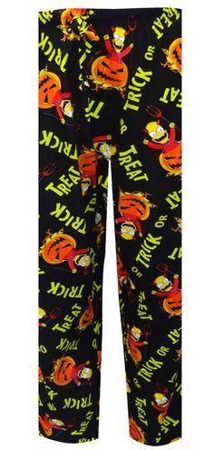 WebUndies.com Bart Simpson Trick Or Treat Halloween Lounge Pants