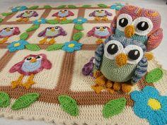 Baby Happy Owl Afghan by CraftyDebDesign | Crochet Pattern - via @Craftsy