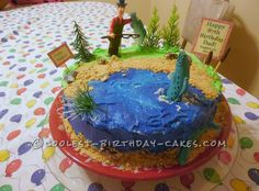"""The Big Fish Catch!"" Cake for the Greatest Fisherman..."