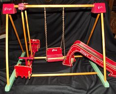 RARE Complete Vintage Vogue 1950's Ginny's Play Gym Set with Slide