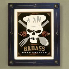 Cooking Chef Art Print Framed Kitchen Art by DexMex on Etsy, $44.00