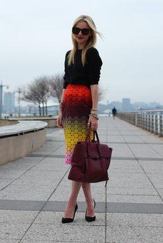 #fashion #woman #style #black #polka dots #skirt #atlantic-pacific