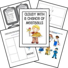 Cloudy With a Chance of Meatballs Unit Study and Lapbook Printables; matches Sonlight K Core