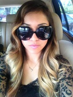 cool tone ombre...dark ash brown and ash blonde :))) love these cool tones