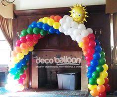 decor rainbow, balloon balloon, balloons decoration, birthday, arches, rainbow balloon arch, balloon decorations, rainbow parti, parti idea