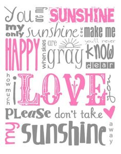 My sunshine :) For my daughter, #daughter #quote