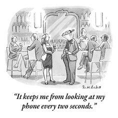 funni stuff, phone, laugh, cartoon, new yorker