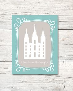 I Love To See the Temple  LDS  8x10 Digital Download by keylimedd, $5.00
