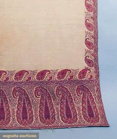 WOOL PAISLEY SHAWL, EARLY 19th C, Augusta Auctions