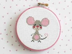 cross stitched mouse