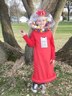 Bubblegum machine costume. Cute!
