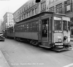 Streetcar at 4th & Liberty, Louisville, Kentucky, 1935. :: Caufield & Shook Collection