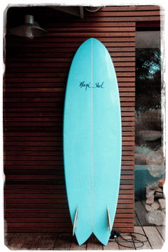 Wood slat surf shack