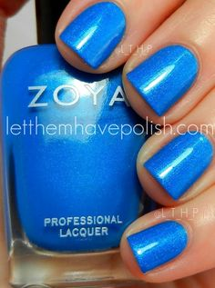 Let them have Polish!: Lit up in Zoya Blues nails