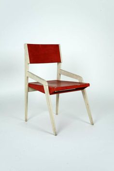 Nestorio Sacchi; Lacquered Plywood Chair, c1950.