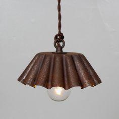 Vintage Industrial Brioche Tin Pendand Light