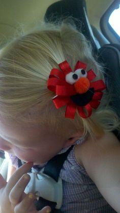 Elmo Hair Bow - DIY