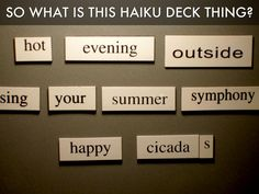 Haiku Deck Review - A Haiku Deck by Katie Boehret