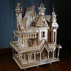Laser-cut Victorian dollhouse!