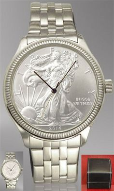 Genuine Silver Eagle Bullion Coin Dial Watch. Special Introductory Pricing.