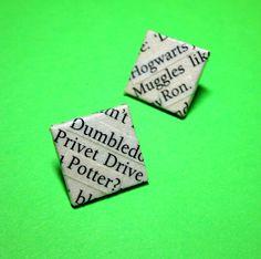 Harry Potter Book Earrings via Etsy