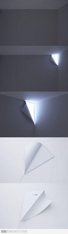 Peel Wall Lamp #diy #crafts www.BlueRainbowDesign.com
