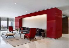 Fantastic Red Decoration Home Interior: Cozy Living Room With Red Accents Decorate With Shades Of Red