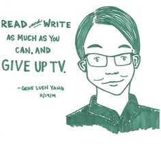 Advice from Gene Luen Yang illustrated by Kate Gavino, lastnightsreading.tumblr.com