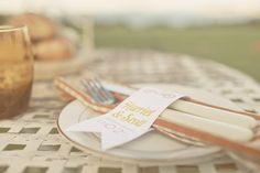 unique menu card idea around silverware