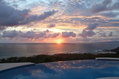 View from our Honeymoon Pool! Casa de Amor in Mal Pais, Costa Rica. <3