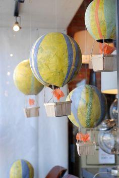 Paper Mache Hot Air Balloons