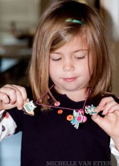 Shrinky Dinks Jewelry using the Cricut