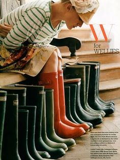 This is the year is should finally invest in some Hunter Wellies