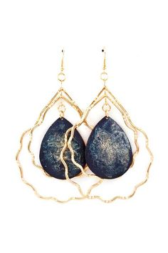 Emily Teardrop Chandelier Earrings.