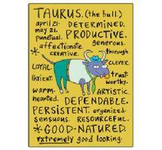 Taurus zodiac sign positive