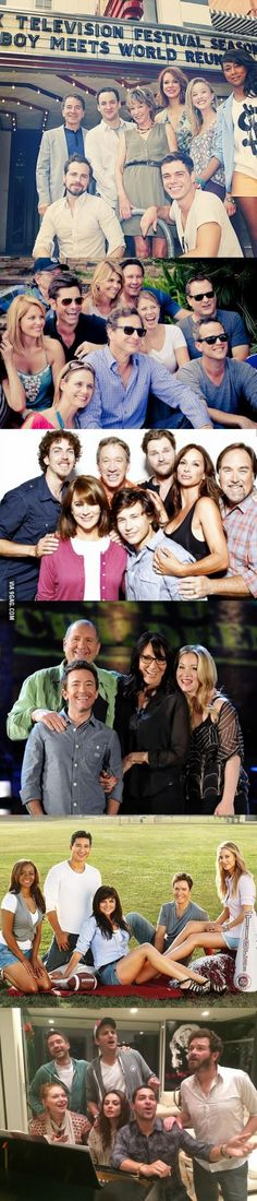 Recent pictures of the casts of 90s TV shows
