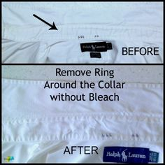 how to remove ring around the collar - includes a link to home made washing soda