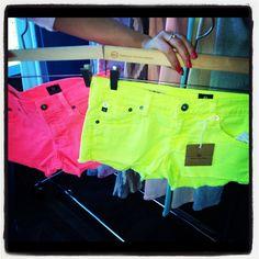 #Neon shorts  Jeans Shorts #2dayslook #JeansShorts  #ramirez701 www.2dayslook.com