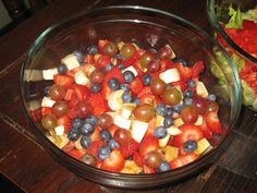 Yummy fruity salad.