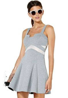 Light Grey Patchwork Condole Belt Wrap Dacron Dress