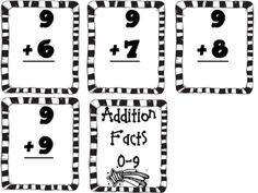Addition Facts printables
