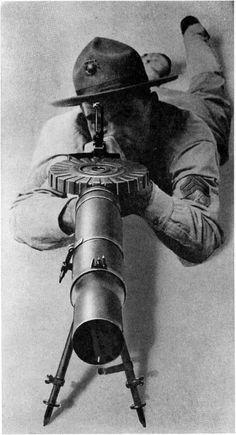 Lewis machine gun and U.S. Marine