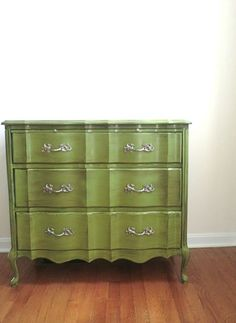 Idea for bedroom dresser <3 this green!