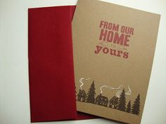 Christmas Cards From Our Home to Yours Simple Rustic Country