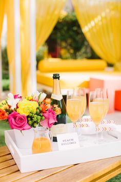 Peach Bellinis - Spa Baby Shower | The TomKat Studio for DIY Network