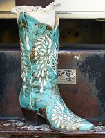 Bodacious Boot Co. Turquoise And White Bodacious Boots