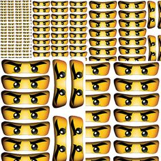 INSTANT DOWNLOAD Ninjago eyes ( 5 sizes ) , banner, wall decor - Digital File - for Ninjago party
