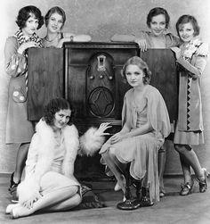 Caryl Lincoln, Loretta Young, Sally Blane, Doris Dawson,Doris Hill  Helen Foster. WAMPUS Baby Stars, 1929.