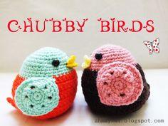 Chubby birds, great tutorial by Ahmaymet Amigurumi.
