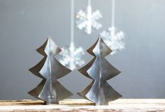 Metal Christmas Tree Industrial Holiday Decor by susantique, $25.00